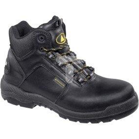 Buty z pełnej skóry licowej wodoodporne, podeszwa z PU podnosek i wkładka kompozytowe kolor czarny rozmiar 46 PIED  CT600S3NO46