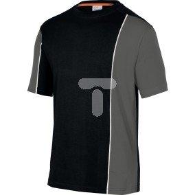 T-shirt dwukolorowy z bawełny (100%) 180 g/m2 pasuje do serii mach 2  kolor czarno-szary rozmiar 3XL CORP  MSTSTNO3X