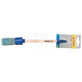 Pędzel owalny akrylowy 6 uchwyt drewniany do farb akrylowych 20B912