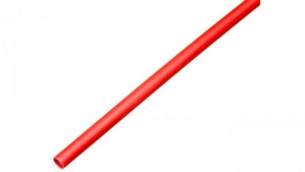 Rura termokurczliwa cienkościenna CR 1,6/0,8 - 1/16 czerwona /1m/ 8-7036 /100szt./
