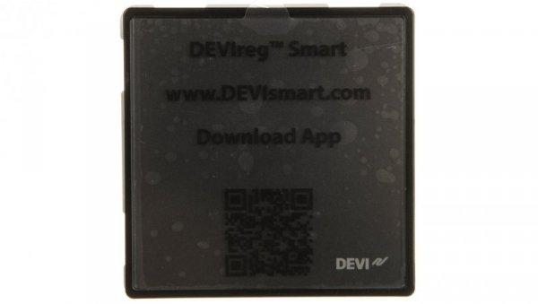 Termostat dotykowy DEVIreg Smart 240V 16A 5-45°C IP21 czarny 140F1143