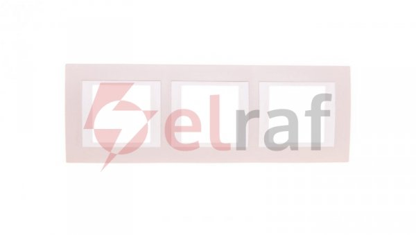 Unica Plus Ramka potrójna pionowa róż piaskowy MGU6.006V.567
