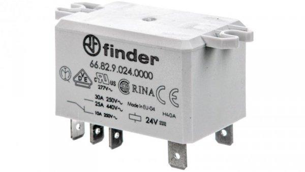 Przekaźnik przemysłowy 2Z 30A 24V DC, na panel, Faston 250 66.82.9.024.0000