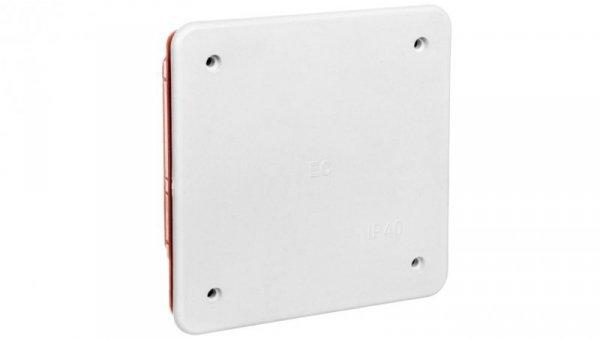 Puszka podtynkowa z pokrywą seria 350 92x92x45 czerwony-biały EC350C1