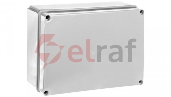 Puszka natynkowa gładka z pokrywą seria 410 IP56 300x220x120 szara EC410C8
