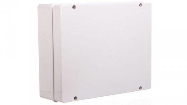 Puszka natynkowa gładka z pokrywą seria 410 IP56 380x300x120 szara EC410C9