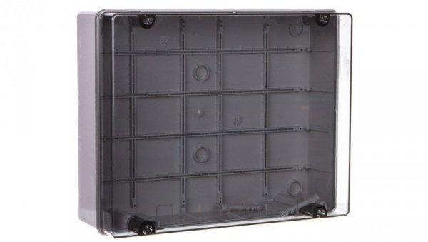 Puszka natynkowa z przeźroczystą pokrywą seria 420 IP65 380x300x120 szara EC420C9