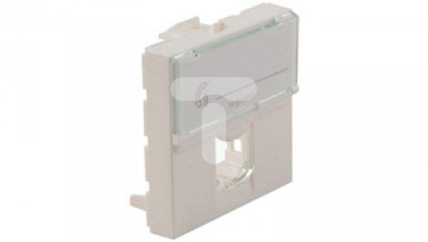 MOSAIC Adapter do złączy pojedynczych RJ45 Systimax0 biały 78602