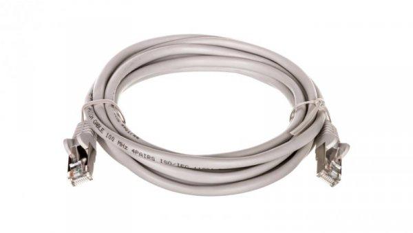 Kabel krosowy patchcord F/UTP kat.5e CCA szary 3m 50129