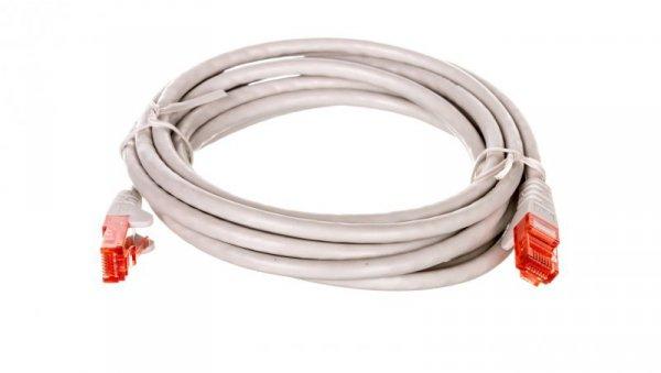 Kabel krosowy patchcord U/UTP kat.6 CCA szary 2m 68454
