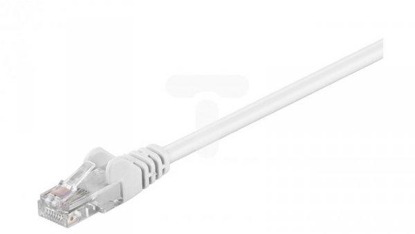 Kabel krosowy patchcord U/UTP kat.5e CCA biały 5m 68508