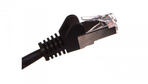 Kabel krosowy patchcord F/UTP kat.5e CCA czarny 1m 68655