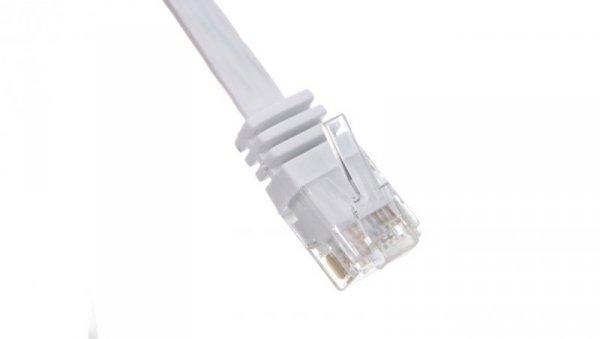 Kabel krosowy płaski patchcord U/UTP kat.5e biały 2m 93359