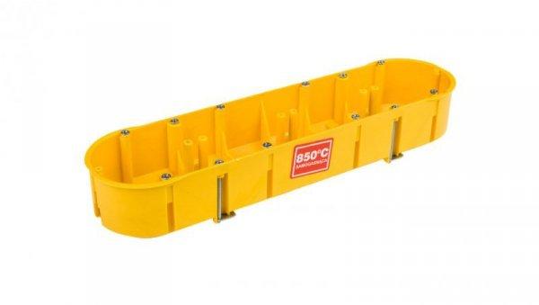 Puszka podtynkowa poczwórna 60mm żółta ze śrubami PK-4x60 0235-0N