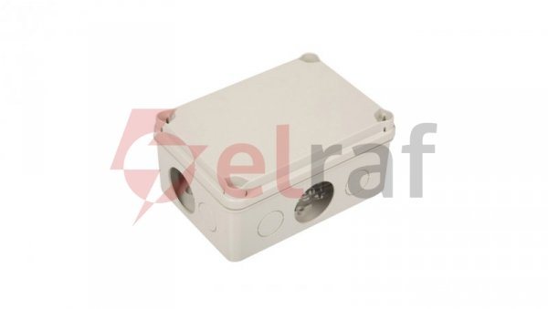 Puszka natynkowa LIGHT 162x116x76 6xM25 4xM40 IP66/67 szara EV-161
