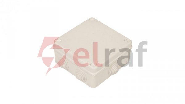 Puszka n/t hermetyczna pusta 135x135x65mm IP55 biała PK-4 0233-00
