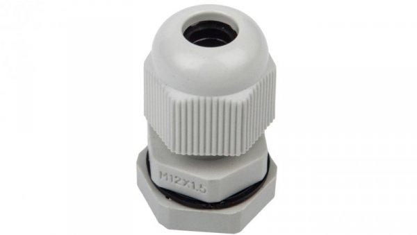 Dławnica kablowa poliamidowa z przeciwnakrętką M12 IP68 DP-EN 12 HM szara E03DK-01040100101 /100szt./
