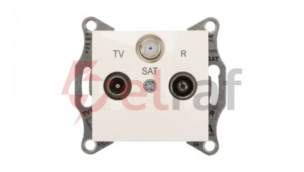 Sedna Gniazdo antenowe RD/TV/SAT końcowe 1dB kremowe SDN3501323