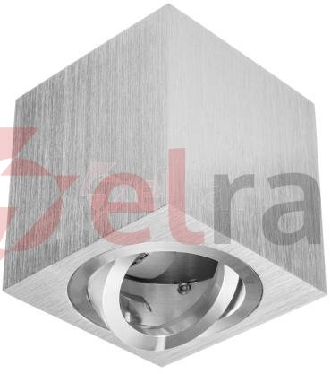 Oprawa natynkowa kwadratowa CUBE srebrny szczotkowany 1 x gu10  LUX05456