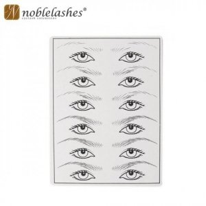 Skóra / Szablon do ćwiczeń na brwiach i oczach