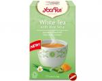 Herbata Biała Aloes Stokrotka Bazylia Bio 17x1,8g Yogi Tea