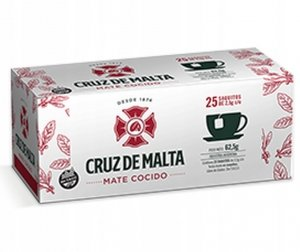 Yerba Mate Cruz de Malta Elaborada 25x2,5g COCIDO