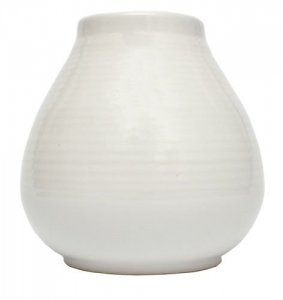 Matero Ceramiczne Pera Białe 300ml Yerba Mate