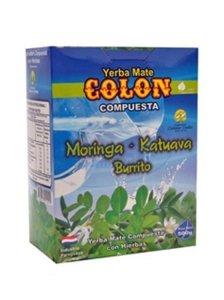 Yerba mate Colon Moringa, Katuava y Burrito 500g