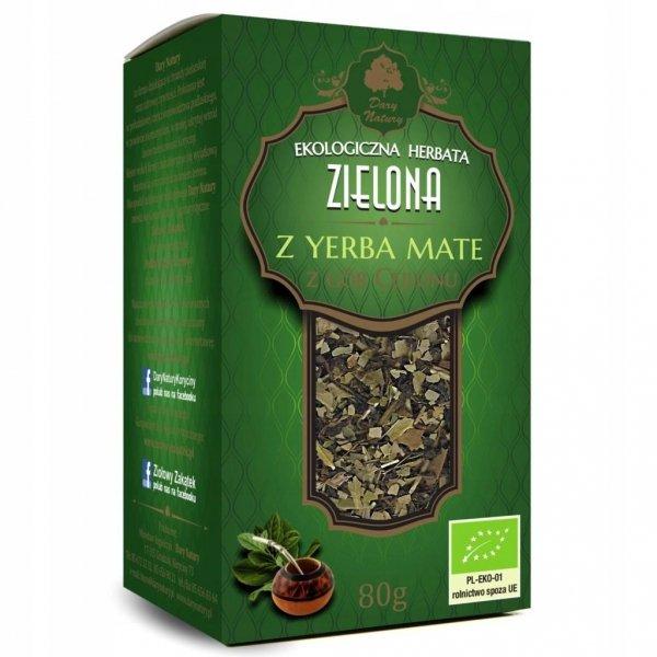 HERBATA ZIELONA Z YERBA MATE BIO 80 g DARY NATURY