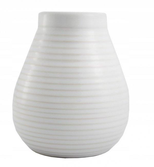 Matero Ceramiczne Calabaza Białe - do Yerba Mate