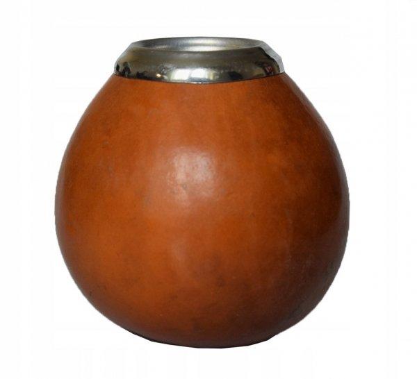 Matero Naturalne Tykwa Con Virola XL do Yerba Mate
