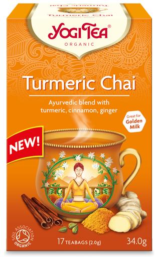 Herbata Złoty czaj kurkuma Bio 17 x 2,0g Yogi Tea