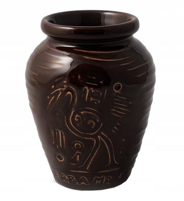 Matero Ceramiczne AZTEK Ciemny brąz do Yerba Mate