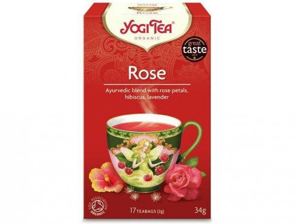 Herbata Tao Rose, Róża Bio (17 x 2g) - Yogi Tea