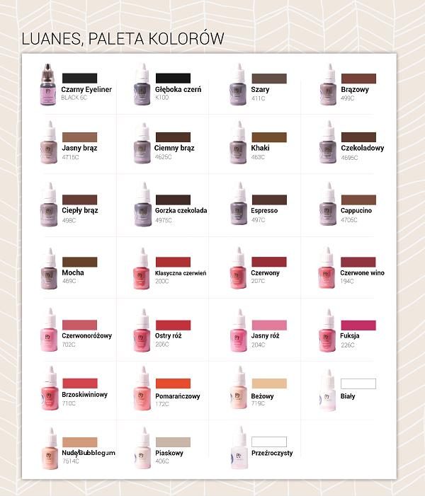 Nowość Luanes pigment do makijażu permanentnego pomarańczowy 10 ml PX76