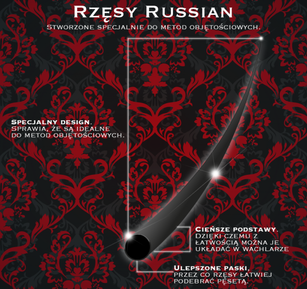 NOBLE LASHES RUSSIAN VOLUME D 0,1 12 MM