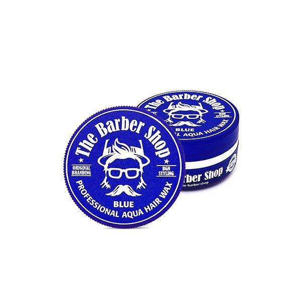 THE BARBER SHOP AQUA HAIR WAX BLUE NIEBIESKA POMADA WODNA DO WŁOSÓW MIĘTA 150ML