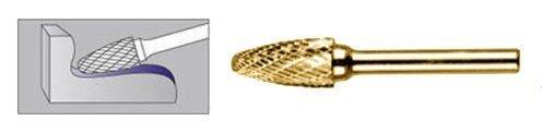FREZ Z WĘGLIKA SPIEKANEGO Z POWŁOKĄ TYTANOWĄ ŁUKOWO-KULISTY 10mm / 6mm F1020/CT