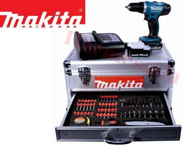Wiertarko-wkrętarka MAKITA BDF343SHEX w walizce z akcesoriami