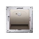 Oprawa oświetleniowa LED z czujnikiem ruchu, 230V złoty mat, metalizowany