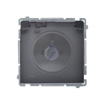 Gniazdo wtyczkowe pojedyncze w wersji IP44 -  klapka w kolorze transparentnym grafit mat, metalizowany 16A