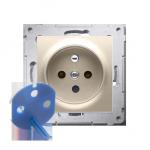 Gniazdo wtyczkowe pojedyncze DATA z kluczem uprawniającym do ramek Nature do ramek Premium (moduł) 16A 250V, zaciski śrubowe, zł