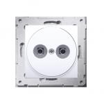 Gniazdo ekwipotencjalne do ramek Nature do ramek Premium (moduł) zaciski śrubowe 2.5, 4, 6 mm2, biały