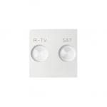 Pokrywa do gniazda antenowego RTV-SAT biały