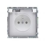 Gniazdo wtyczkowe pojedyncze w wersji IP44 -  klapka w kolorze transparentnym biały 16A