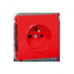 WYCOFANY Z OFERTY gniazdo wtyczkowe pojedyncze z uziemieniem z przesłonami torów prądowych 16A czerwony