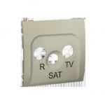 Pokrywa do gniazda antenowego R-TV-SAT platynowy, metalizowany