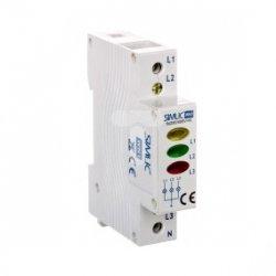 Wskaźnik napięcia LED 3-fazowy 230V WN1 szary 85132002