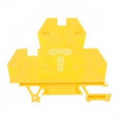 Złączka piętrowa 4-przewodowa 4mm2 żółta EURO 43550N