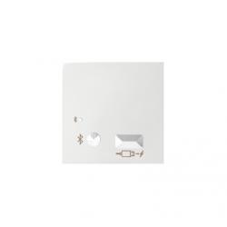 Pokrywa do odbiornika Bluetooth i ładowarki USB biały